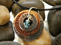 Graduation Necklace  Go Confidently In The Direction by WordyWoman