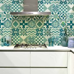 Patchwork Tiles Stencil Pattern - Size SMALL- Stencils for DIY Home Decor | eBay