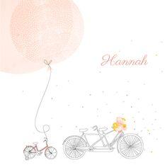 Geburtskarte Familienausflug 1 Kind by My Lovely Thing für Rosemood.de #Fahrrad #Ausflug
