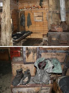 The hut was reused from 1915-1917 by several of Ernest Shackleton's Ross Sea party who had become marooned.  In January 1917, after the survivors were rescued, the hut was vacated and remained untouched until 1956 when U.S. expeditioners dug it out of the ice.  The hut and its contents are remarkably well preserved today.  It's incredible to think that much of what still remains inside was used by the great explorers of the early twentieth century, and has remained untouched since…