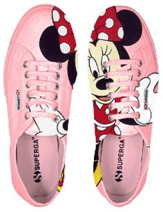 Superga Minnie love it! Disney Shoes, Disney Outfits, Disney Fashion, Crazy Shoes, New Shoes, Cute Shoes, Me Too Shoes, Hand Painted Shoes, Disney Style