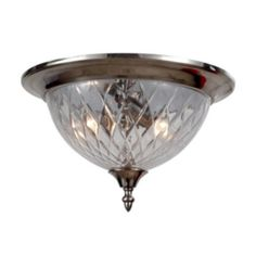 Crystorama Avery Collection 3-light Polished Chrome (Grey) Flush Mount