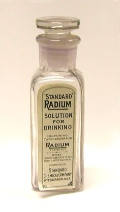 #radium #tonic #snake #oil #medicine