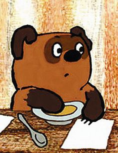 I love Russian Winnie-the-Pooh. I like to believe he's based on Ivan, because he's the same as American/British Winnie-the-Pooh in a lot of ways (i.e. is a bear, eats a lot, etc), but looks, sounds, and acts a lot more depressed--/SHOT