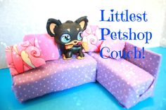 How to make a Doll Couch for Littlest Pet shop LPS dolls | EASY Kids crafts