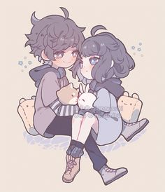 Arte Do Kawaii, Kawaii Art, Cartoon Art Styles, Cute Art Styles, Anime Couples Drawings, Cute Anime Couples, Kawaii Drawings, Cute Cartoon Drawings, Hipster Drawings