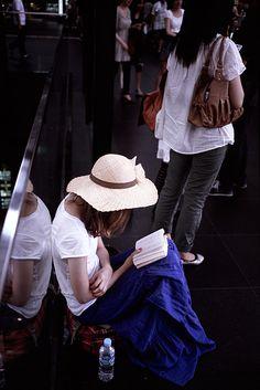Reading in Kyoto Station | Flickr