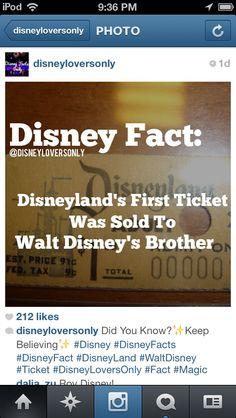 Disney fact- gotta start somewhere!