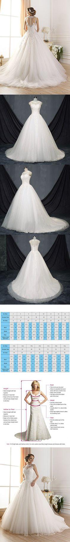 TBB Illusion Lace Ball Gown casamento Elegant Long Wedding dresses (20Plus)