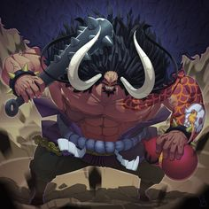 In the latest episode of One Piece we are shown how cruel Kaido and Orochi were to slaughter Kozuki Oden's family. Even though the castle was burned t. Kaidou One Piece, One Piece Chapter, One Piece Anime, Manga Anime, Anime Art, Bleach Fanart, The Pirate King, Monkey D Luffy, New Wallpaper