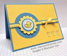 Every Little Bit, A Fitting Occasion, Baby Card, Stampin' Up!, stampwithbrian.com, PP133