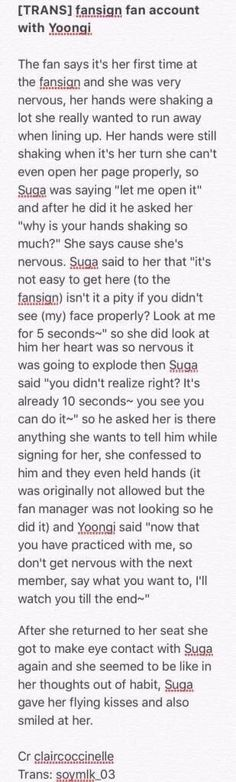 Suga is such a sweetheart to fans ~ bless him #BTS #Genuinetofans