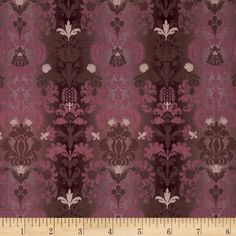 London Cats Parlor Damask Cocoa/Plum