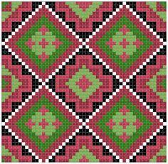 узор 3 Tapestry Crochet Patterns, Lace Patterns, Cross Stitch Patterns, Knitting Patterns, Maori Patterns, Mochila Crochet, Beaded Cross Stitch, Crochet Purses, Crochet Chart