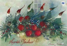 Finnish illustrator/artist Minna Immonen. Christmas card.