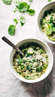 Simple, healthy, vibrant Crockpot Quinoa Chicken Primavera - a 30 minute meal that is packed with green veggies and yummy flavor. Like a risotto, but healthier!