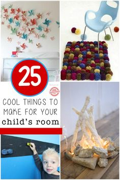 Come and try these awesome and surprisingly easy DIY projects for your kids bedroom. They're perfect for making an old kids bedroom look brand new! Diy Projects For Kids, Do It Yourself Projects, Craft Activities For Kids, Crafts For Kids, Project Ideas, Kids Play Spaces, Kids Rooms, Kids Bedroom, Kids Room Organization