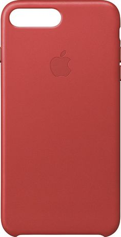 Apple - iPhone® 7 Plus Leather Case - (Product)RED, MMYK2ZM/A