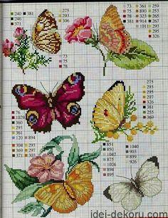найбільша колекція схем метеликів  300схем