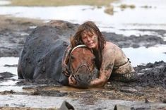 Australian Nicole Graham risked her safety attempting to save her horse Astro from quicksand.