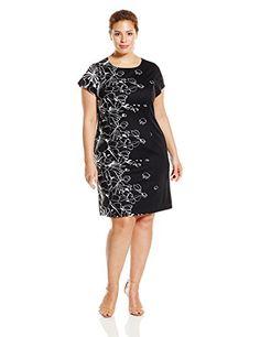 Ellen Tracy Women's Plus-Size T Shirt with Placement Print, Black/Ivory, 18W Ellen Tracy http://smile.amazon.com/dp/B019QWXEN2/ref=cm_sw_r_pi_dp_vuS1wb1X09FT4