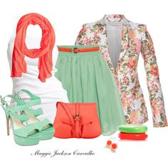 """Mint & Neon"" by maggie-jackson-carvalho on Polyvore"