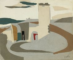 "yama-bato: ""  John Piper  Knowlton, Dorset Collage and gouache """
