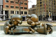 In 2003 several bronze sculptures of the Peanuts characters were unveiled in Rice Park honoring Saint Paul native Charles Schultz. #Peanuts #History