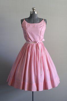 Vintage 50s Dress / 1950s Cotton Dress