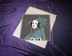 Ada Saint Lovelace - brought into the modern era by the talented Daniel Orlick. Print available. Ada Lovelace, Saints, Bring It On, Victorian, Female, Creative, Modern, Etsy, Design