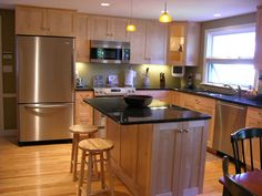 Image result for maple wood kitchen cabinets