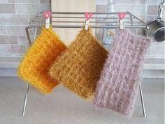 요즘은 수세미로 쓰기 아까운 화려하고 예쁜 수세미 도안이 너무나 많습니다. 대부분 2중으로 이뤄진 호빵... Knit Crochet, Diy And Crafts, Crochet Patterns, Tote Bag, Embroidery, Knitting, Crocheting, Kitchen, Decor