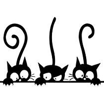 home decor Funny Cat Wall Stickers Home Decorations Washroom - BLACK - Nhen -neutral home decor Funny Cat Wall Stickers Home Decorations Washroom - BLACK - Nhen - gatitos! Más Funny Cat Cartoon Scratching Curtain Images of Peeking Cat. Silhouette Chat, Cute Cats, Funny Cats, Cat Wall, Diy Décoration, Rock Art, Painted Rocks, Cats And Kittens, Cats Bus