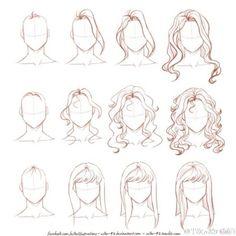 #绘画参考# 头发的绘制教程,不同类型的编发辫子、卷发画法,来换个卷发造型吧~【更多绘画教程戳】O网页链接