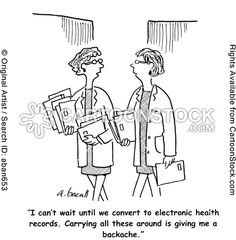 Electronic Health Records Funny Cartoons Aaron Bacall