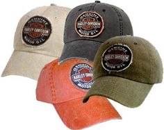 f992da4fd96 Harley-Davidson  Men s Genuine Oil Patch Cap   Hat. 100% washed cotton.  Frayed and distressed bill.  14.99