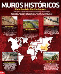 A lo largo de la historia la construcción de muros para dividir naciones ha sido una práctica común, a propósito del aniversario 28 de la caída del Muro de Berlín te presentamos los más representativos.
