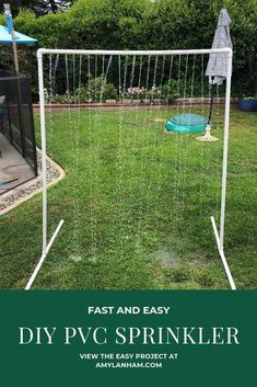 After making the water table for the kids we decided we needed some other water toys for the kids. So we made this DIY PVC Sprinkler. Kids Sprinkler, Water Sprinkler, Backyard Water Parks, Backyard For Kids, Backyard Ideas, Water Table Diy, Water Tables, Homemade Sprinkler, Diy Outdoor Wood Projects