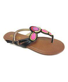 Black Geometric Sandal