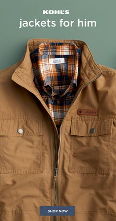 06c1818934 Post Copy  Shop the latest in Men s outerwear and jackets at Kohl s. Cooler  weather