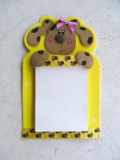 fun foam notepad holder (with pattern)