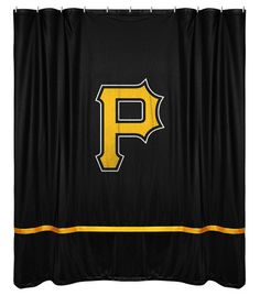 Pittsburgh Pirates Sports Coverage Team Color Shower Curtain Sidelines  #SportsCoverage #PittsburghPirates