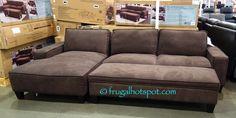 Costco: Chaise Sofa with Storage Ottoman $799.99   Frugal Hotspot