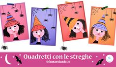 Lavoretti Halloween: quadretti con le streghe Pixel Art, Playing Cards, English, English Lessons, Playing Card Games, English Language, Game Cards, Playing Card