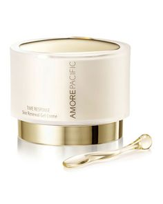 I got a sample size of this one time...it was amazing...I wish I could afford it.   :(   Time Response Skin Renewal Gel Creme by Amore Pacific at Neiman Marcus.