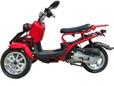 50cc Three-Wheel Ruckus Style Trike Scooter Moped Trike Scooter, 3 Wheel Scooter, Trike Bicycle, Trike Motorcycle, Motorized Trike, Three Wheel Bicycle, Small Tractors, Scooters For Sale, Third Wheel