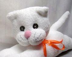 Jouet en peluche chaussette White Cat