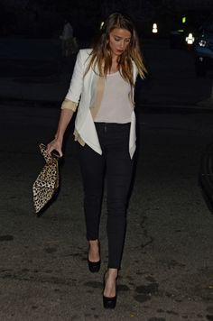 """Amber Heard and Harrison Ford go to a dinner at the """"Da Umberto"""" restaurant 8-27-2012"""