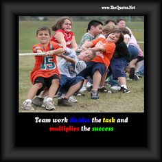 An Action performed by more than person towards the common goal is called Teamwork.Here you can see some motivational quotes about Teamwork with images. Teamwork Quotes Motivational, Team Quotes, Inspirational Quotes, Sport Quotes, Quotes For Kids, Quotes To Live By, Sharing Quotes, Stress Management, Business Quotes