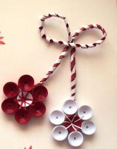 Блог за куилинг - идеи, проекти, картички, пана, картини. Quilling Christmas, Christmas Flowers, Christmas Items, Christmas Ornaments, Quilling Flowers, Quilling Cards, Paper Quilling, Quilling Ideas, Paper Art